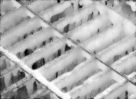 grate: Ice On Grate Abstract Stock Photo