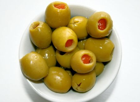 pimento: Green Cocktail Olives
