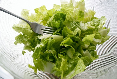 romaine: Fresh Garden Salad Made With Romaine Lettuce