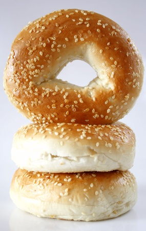 sesame seed: Sesame Seed Bagels Stock Photo