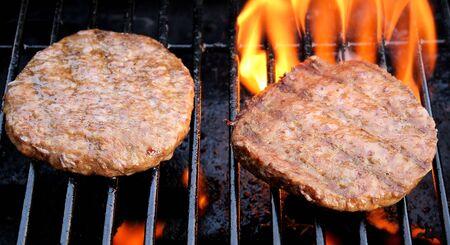 Tasty Hamburgers On An Outdoor BBQ