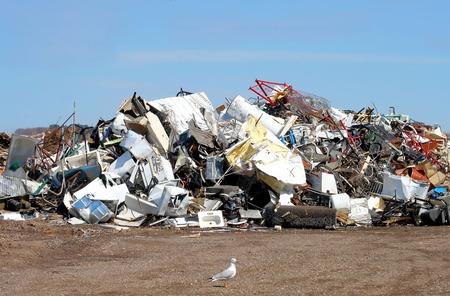 junkyard: Al aire libre de vertederoScrapyard Foto de archivo