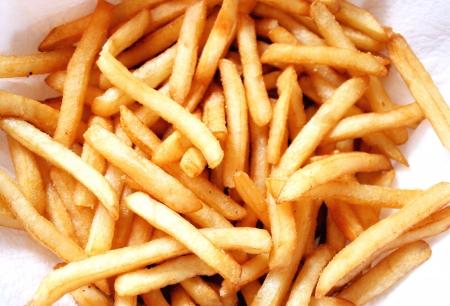 papas fritas: Fried profunda patatas fritas Foto de archivo