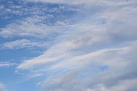cirrus: Clouds in a bright blue sky Stock Photo