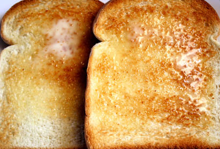 buttered: Buttered Toast Stock Photo