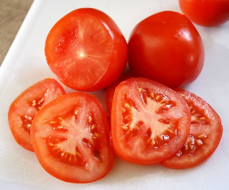tomates: Tranches de tomate fra�che