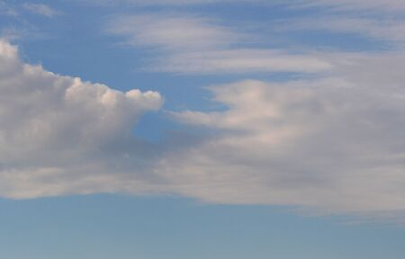 cirrus: Beautiful blue sky with white clouds Stock Photo
