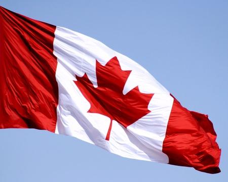 Kanadische Flagge Standard-Bild - 10051415