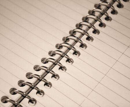 Spiral Notebook (sepia tone) Stock Photo - 10163944