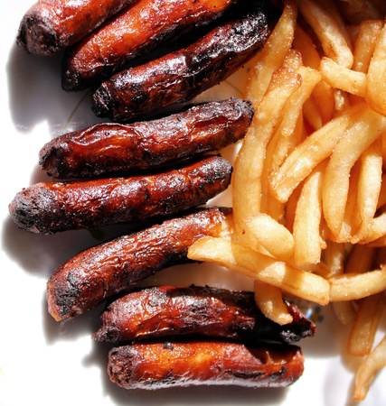 mealtime: Sausages And French Fries