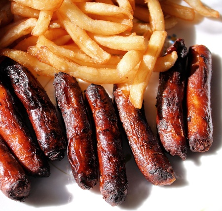 greasy: Sausages And French Fries
