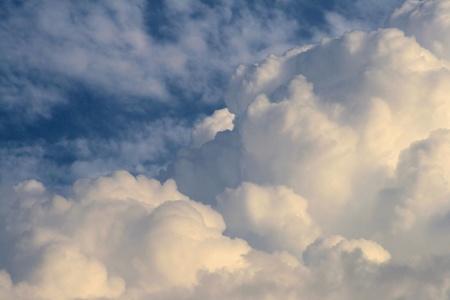 sky clouds: Clouds  (cumulus) Stock Photo
