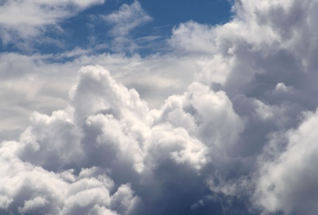 Cumulus Clouds  Stock Photo