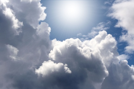 cloud formation: Beautiful Clouds With Shining Light