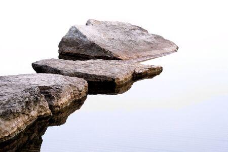 submerge: Rocks On The  Shoreline