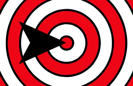 Arrow Pointing To The Centre Of The Target photo