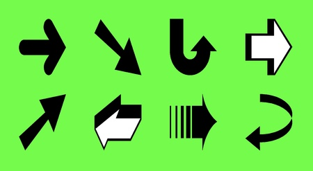 pointed arrows: Direction Arrows