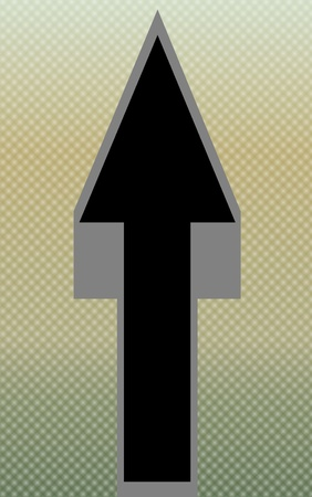 pointed arrows: Arrow Pointing Up - Textured Backgroundi