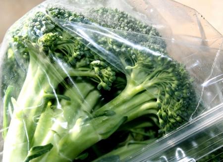 Broccoli In Plastic Storage Bag - condensation is forming