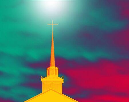 church steeple: Church Steeple With Cross