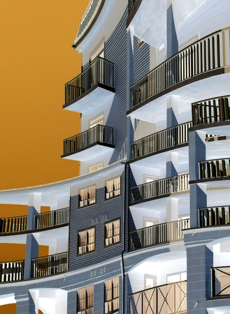 hotel balcony: Condominium - abstract