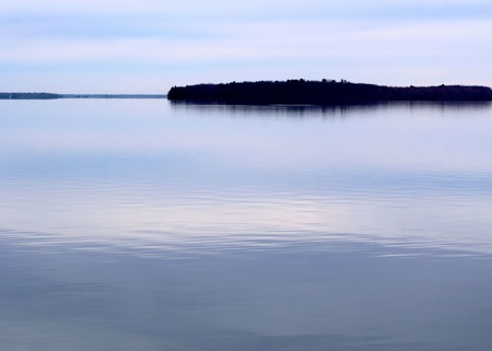 still water: Beautiful Calm Blue Lake