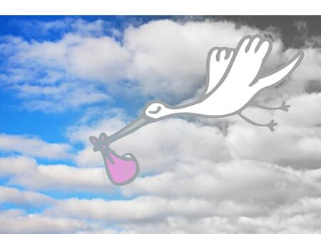it s a girl: It s A Girl -  a stork delivery