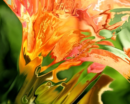 orange lily: Day Lily Abstract
