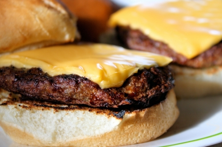 Juicy Cheeseburgers - just off the barbeque