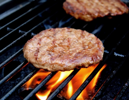 patty: Burgers Cooking On The Grill