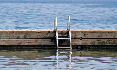 Swimming Dock With Ladder photo