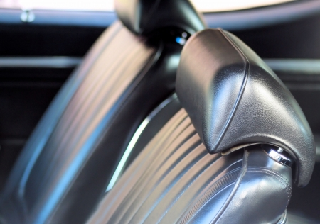 Classic Car - interior seats Stock Photo