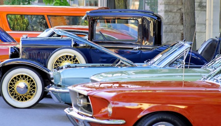 sleek: Classic Car Show - Orillia, Ontario Canada, August 18th, 2012 Stock Photo