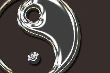 Yin Yang Symbol - metallic Stock Photo - 20016155