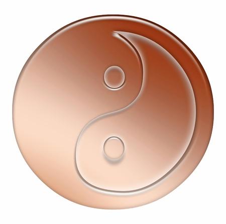 Yin Yang Symbol - abstract Zdjęcie Seryjne