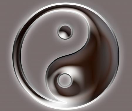 Yin Yang Symbol - metallic