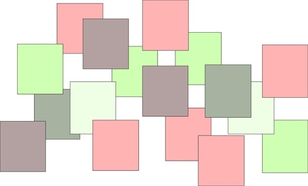 Pastel Coloured Squares On White Background