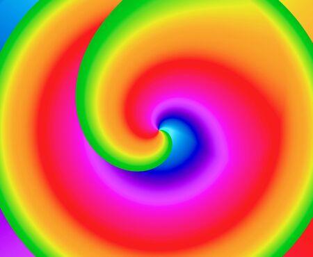 rainbow colors: Kaleidoscope of rainbow colors swirling towards center vortex