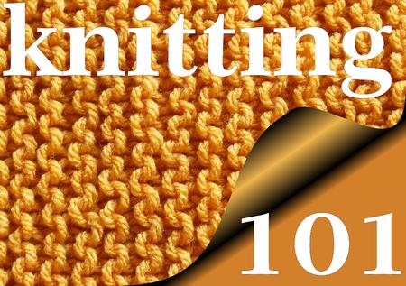 sampler: KNITTING 101 - Knitted garter stitch sampler for Beginners