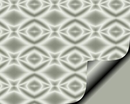 page curl: Abstract paper with page curl in a soft Gray hue with diamond star pattern