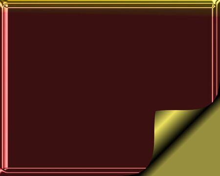 上品なワインレッドとゴールド色ゴールド ページカールを静止