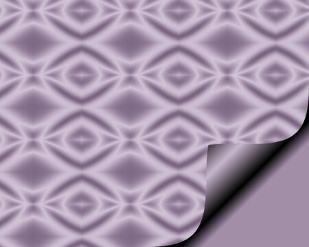 page curl: Abstract paper with page curl in soft Lilac with diamond star pattern