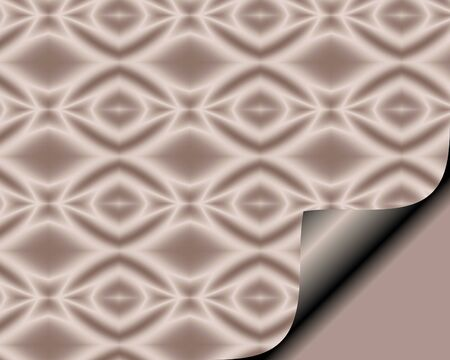 page curl: Abstract paper with page curl in soft Rose hue with diamond star pattern Stock Photo