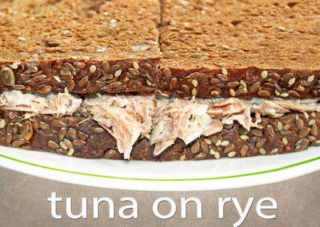 rye: Tuna salad sandwich on Rye Bread