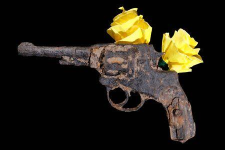 gun vintage rusted