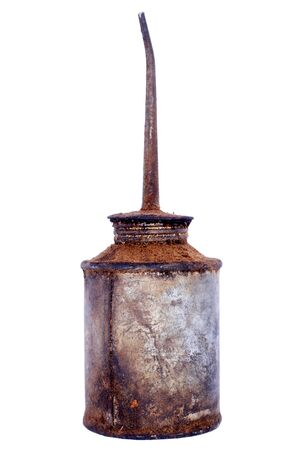oilcan: vintage oilcan with rust