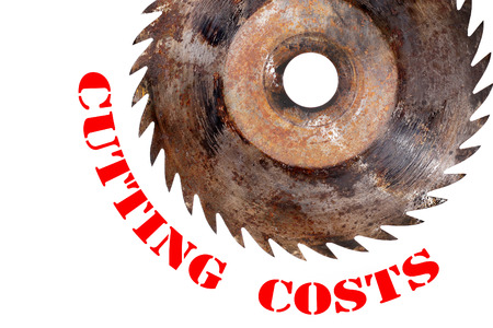 cutting costs: cutting costs Stock Photo