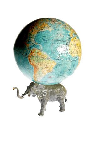 gravitation: elephant holding earth