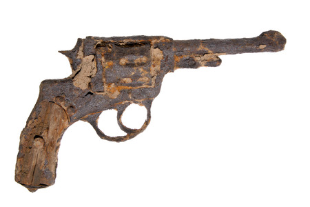 rusted: vintage revolver rusted