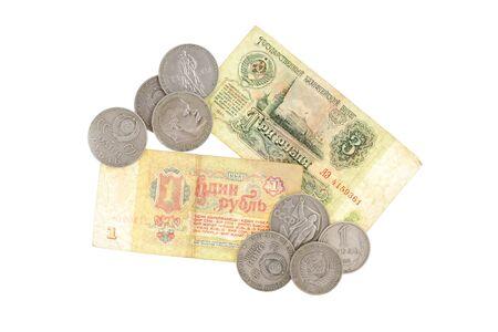 lenin: money soviet coins roubles lenin isolated